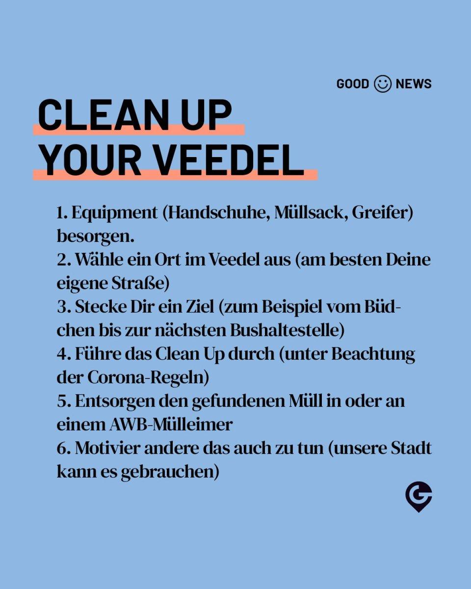 Sauber machen, Müll, Veedel, Köln